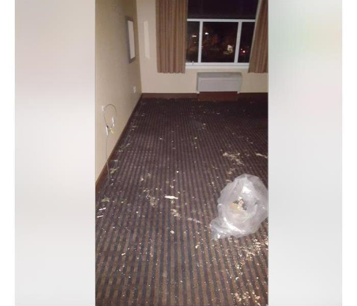 Water Damages to Hotel Room